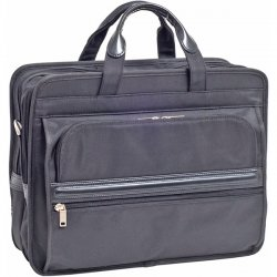 McKlein / Siamod - 56485 - McKleinUSA 15.6 Nylon Double Compartment Laptop Briefcase - Shoulder Strap , Hand Strap - 17 Screen Support - Nylon - Black