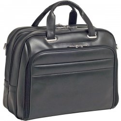 McKlein / Siamod - 86595 - McKleinUSA 15.6 Leather Fly-Through Checkpoint-Friendly Laptop Briefcase - Shoulder Strap, Hand Strap17 Screen Support - 13 x 17 x 7.25 - Leather - Black
