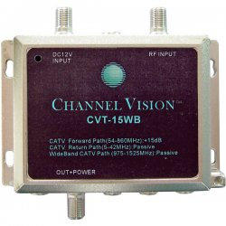 Channel Vision - CVT-15WB - Channel Vision RF Amplifier - 1.53 GHz, 1.53 GHz - 54 MHz, 5 MHz to 1.53 GHz, 1.53 GHz