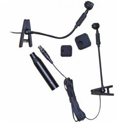Pyle / Pyle-Pro - PMSAX1 - PylePro PMSAX1 Microphone - 50 Hz to 16 kHz - Wired - 9.84 ft -46 dB - Electret Condenser - Lapel - XLR