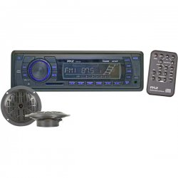 Pyle / Pyle-Pro - PLMRKT12BK - Pyle PLMRKT12BK Marine Flash Audio Player - iPod/iPhone Compatible - Single DIN - Detachable Faceplate - LCD Display - MP3, WMA - AM, FM - 18, 12 x FM, AM Preset - MultiMediaCard (MMC), SD - USB - Auxiliary Input