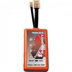 Triplett - 9615 - Telephone Line/LAN Tester, 568 A/B Standard, RJ45, RJ11, LED, Dual, Line-Bug 4