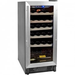 Haier - HVCE15DBH - Black 26-Bottle Single-Zone Built-In Or Freestanding Wine Cooler
