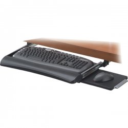 "Fellowes - 9140303 - Office Suites Underdesk Keyboard Drawer - 2.3"" Height x 22"" Width x 11.6"" Depth - Silver"