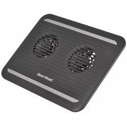 Gear Head - CF3300BLK - Gear Head CF3300BLK Dual-Cool II Notebook Cooling Stand - 2 Fan(s) - Black