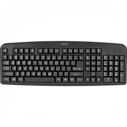 Digital Innovations - 4250400 - Micro Innovations 4250400 Easy-View Keyboard - Cable Connectivity - USB Interface - 110 Key - Compatible with Computer (PC)