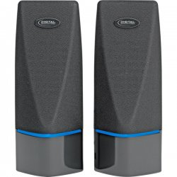 Digital Innovations - 4330100 - Digital Innovations AcoustiX 2.0 Speaker System - 2 W RMS - 200 Hz - 20 kHz - USB