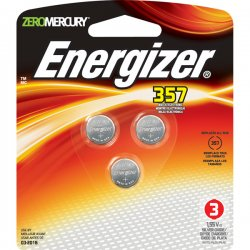 Energizer - 357BPZ-3 - Energizer 357 Watch/Calculator Batteries - Silver Oxide - 1.6 V DC - 3 / Pack