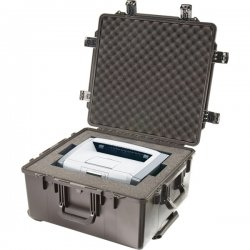 "Pelican - IM2875-00001 - Pelican Storm Case iM2875 Large Storage Box with Cubed Foam - Internal Dimensions: 22.50"" Length x 21.10"" Width x 11.40"" Depth - External Dimensions: 24.9"" Length x 23.7"" Width x 13.1"" Depth - Press & Pull Latch Closure - HPX"