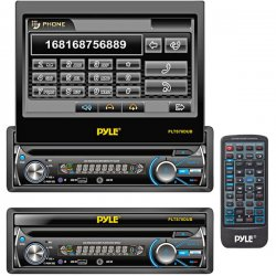 "Pyle / Pyle-Pro - PLTS78DUB - Pyle PLTS78DUB Car DVD Player - 7"" Touchscreen LCD - Single DIN - DVD Video, MPEG-4, Video CD - AM, FM - SD, MultiMediaCard (MMC) - Bluetooth - USB - Auxiliary Input - In-dash"