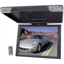 "Pyle / Pyle-Pro - PLVWR1440 - Pyle PLVWR1440 14"" Active Matrix TFT LCD Car Display - Black - 4:3 - 1024 x 768 - IR Transmitter - Roof-mountable"