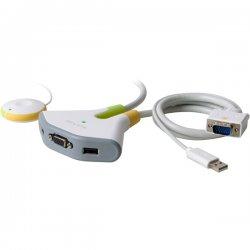 Belkin / Linksys - F1DF102U - Belkin Flip F1DF102U KVM Switch - 2 Computer(s) - 2048 x 1536 - 2 x USB