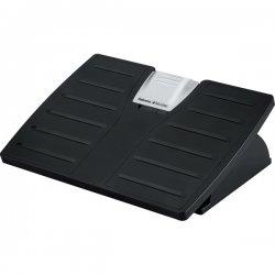 "Fellowes - 8035001 - Office Suites Adjustable Footrest w/Microban - Lock, Antimicrobial, Adjustable Height, Adjustable Tilt Angle, Pressure Sensitive - 5.62"" Adjustment - Tilt - 17.5"" x 13.1"" x 4.4"" - Black, Silver"