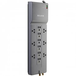 Belkin / Linksys - BE11223008 - Belkin Home/Office Surge Protector - Surge protector - output connectors: 12
