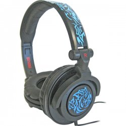 Maxell - 190265 - Maxell Headphone - Stereo - Blue - Mini-phone - Wired - 10 Hz 23 kHz - Over-the-head - Binaural - Ear-cup