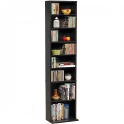 Atlantic - 7473-5727 - Summit Mm Wood Strge Espresso Holds 261 Cds Or 114 Dvds/blu-rays
