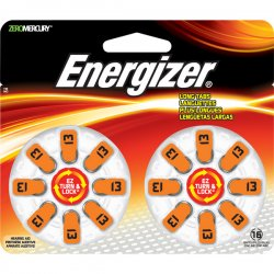 Energizer - AZ13DP-16 - Hearing Aid Battery, Zero Mercury Coin Cell, 13, 1.4V