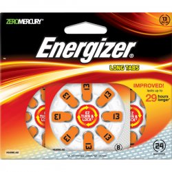 Energizer - AZ13DP-24 - Energizer EZ Turn & Lock Hearing Aid Battery - 24 / Pack