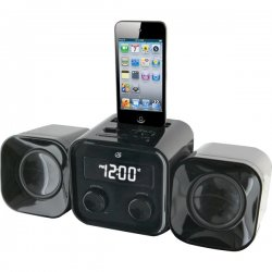 GPX - HM102B - Gpx Hm102b Black Compact Home Music System Mp3 Dock Am Fm Lc
