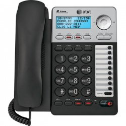 AT&T / VTech - ML17929 - AT&T ML17929 Standard Phone - Silver - Corded - 2 x Phone Line - Speakerphone - Backlight