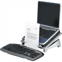 "Fellowes - 8036701 - Office Suites Laptop Riser Plus - Up to 17"" Screen Support - 10 lb Load Capacity - 6.5"" Height x 15.1"" Width x 11.5"" Depth - Silver, Black"