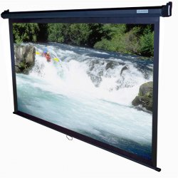 "Elite Screens - M100UWH - Elite Screens M100UWH Manual Ceiling/Wall Mount Manual Pull Down Projection Screen (100"" 16:9 Aspect Ratio) (MaxWhite) - 54"" x 89"" - Matte White - 100"" Diagonal"