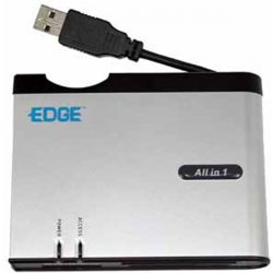Edge Tech - EDGDM-211622-PE - EDGE Tech All in one Card Reader With XD and SDHC - Microdrive, Memory Stick, miniSD Card, xD-Picture Card, Memory Stick Duo, Memory Stick PRO, CompactFlash Type I, CompactFlash Type II, MultiMediaCard (MMC), SmartMedia Card
