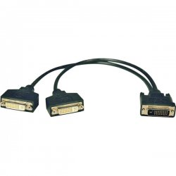 Tripp Lite - P564-001 - Tripp Lite 1ft DVI Y Splitter Video Monitor Cable DVI-D M/2xF 1' - (DVI-D M to 2x F) 1-ft.