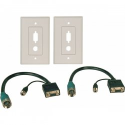 Tripp Lite - EZA-VGAAF-2 - Tripp Lite Easy Pull Type-A VGA Connector Kit with Audio and Faceplates F/F - (F/F set of VGA with Audio and Faceplates)