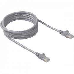Belkin / Linksys - A3L791-50-S - Belkin Cat5e Network Cable - Category 5e - 50 ft - 1 Pack - 1 x RJ-45 Male Network - 1 x RJ-45 Male Network - Gray