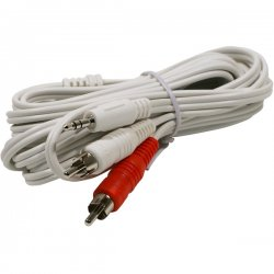 Steren Electronics - 252-062WH - Steren Audio Y-Cable - Mini-phone Male Stereo - RCA Male Stereo - 12ft