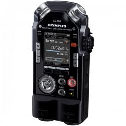 Olympus - V409121BU000 - Olympus LS-100 4GB Digital Voice Recorder - 4 GB Flash Memory - 2 LED - Headphone - Portable