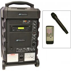 AmpliVox - SW800L - Titan Uhf Wl Portable Pa Lapel Mic Uhf Bluetooth 100 Watts