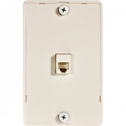 Steren Electronics - 301-094WH - Steren 1 Socket Phone Faceplate - 1 x Socket(s) - RJ-11 - White