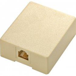 Steren Electronics - 301-145IV - Steren Modular Surface Mounting Box - RJ-11 - Ivory