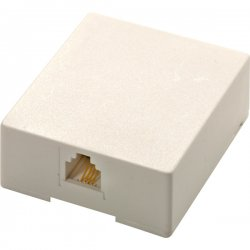 Steren Electronics - 301-145WH - Steren Modular Surface Mounting Box - RJ-11 - White