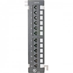 Steren Electronics - 310-320 - Steren 12 Port Cat 5e Network Patch Panel - 12 x RJ-45