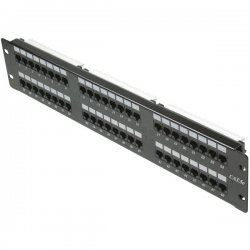 Steren Electronics - 310-348 - Steren 48 Port Cat 5e Network Patch Panel - 48 x RJ-45