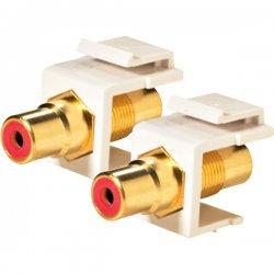 Steren Electronics - 310-461WH - Steren RCA Keystone Modular Gold Insert - RCA