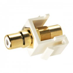 Steren Electronics - 310-463WH - Steren RCA Keystone Modular Gold Insert - RCA