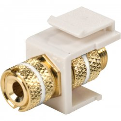 Steren Electronics - 310-468wh - Steren Keystone Modular Insert Red Band - 1 x Banana Plug Female Audio - 1 x Banana Plug Female Audio - White