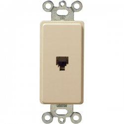 Leviton - 40649I - Leviton 1 Port Phone Faceplate - RJ-11 Phone - Ivory