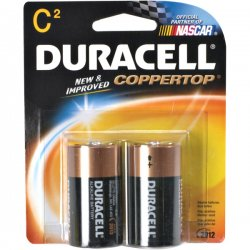 Duracell - MN1400B2Z - C Size 2 Pack Alkalinebattery Copper Top