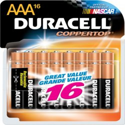 Duracell - MN2400B20Z - CopperTop Alkaline Batteries with Duralock Power Preserve Technology, AAA, 20/Pk