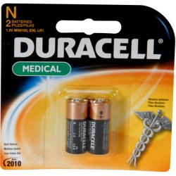 Duracell - MN9100B2PK - Coppertop Alkaline Medical Battery, N, 1.5V, 2/Pk