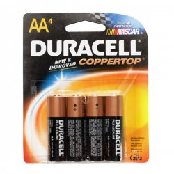 Duracell - MN1500B4Z - CopperTop Alkaline Batteries with Duralock Power Preserve Technology, AA, 4/Pk