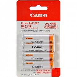 Canon - 1171B002 - Canon NB-4-300 - Camera battery 4 x AA type NiMH - for PowerShot A1100, A2100, A480, A490, A495, E1, SX1, SX10, SX110, SX120, SX130, SX150, SX20