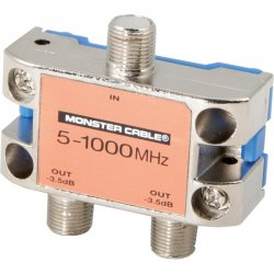 Monster Cable - 127776 - Monster Cable SS2RF MKII 2-Way Standard RF Splitters For CATV Signals - 1000MHz