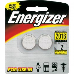 Energizer - 2016BP2 - Energizer 2016 3V Watch/Electronic Batteries - Lithium (Li) - 3 V DC - 2 / Pack