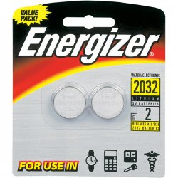 Energizer - 2032BP2 - Energizer 2032 Watch/Electronic Batteries - Lithium (Li) - 3 V DC - 2 / Pack
